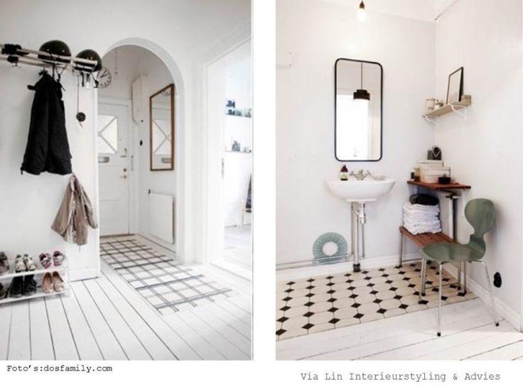 zwart wit scandinavisch interieur / black & white scandinavia interior