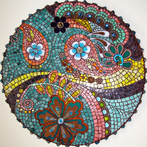 Circle with paisley design mosaic By Diana White