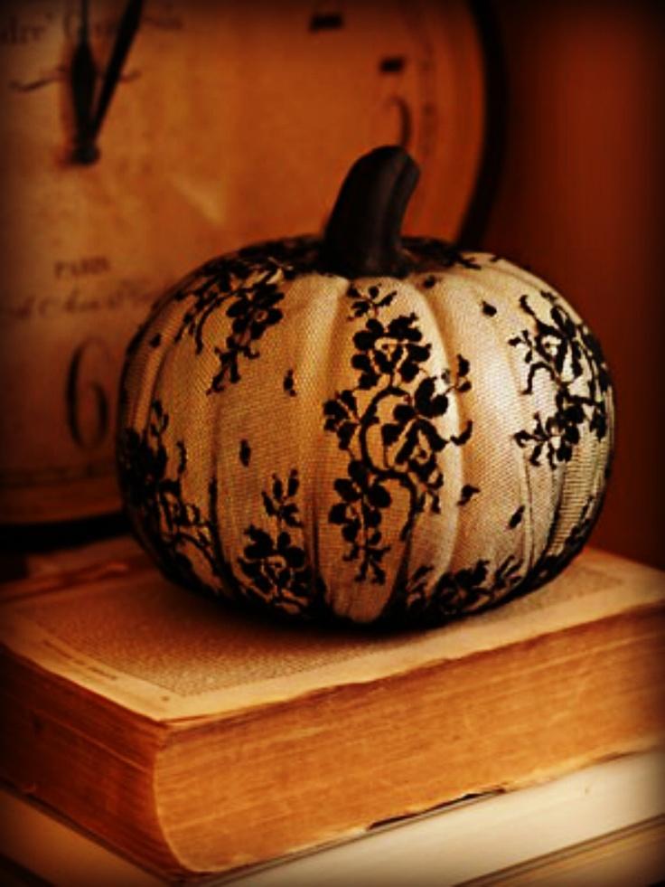 shabby chic pumpkin nipumpkins posh pumpkins pinterest shabby pumpkins and halloween. Black Bedroom Furniture Sets. Home Design Ideas