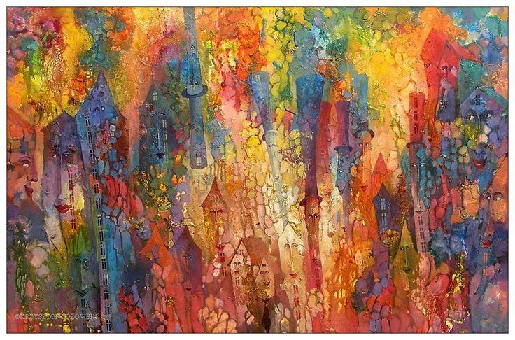 Fairyland, 150x100cm, acrylic, canvas, for sale Krzysztof Lozowski