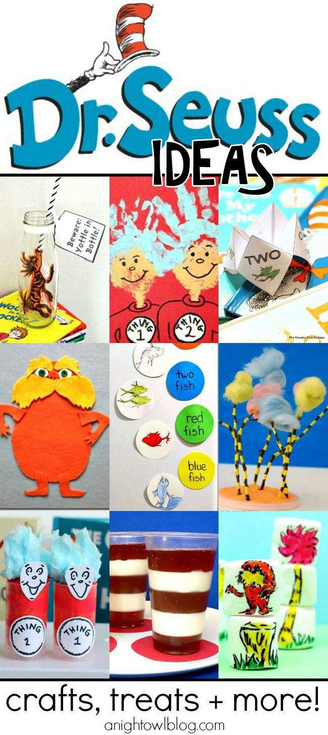 So many great Dr. Suess ideas in one place - crafts, treats and more! Perfect for SUMMER fun!
