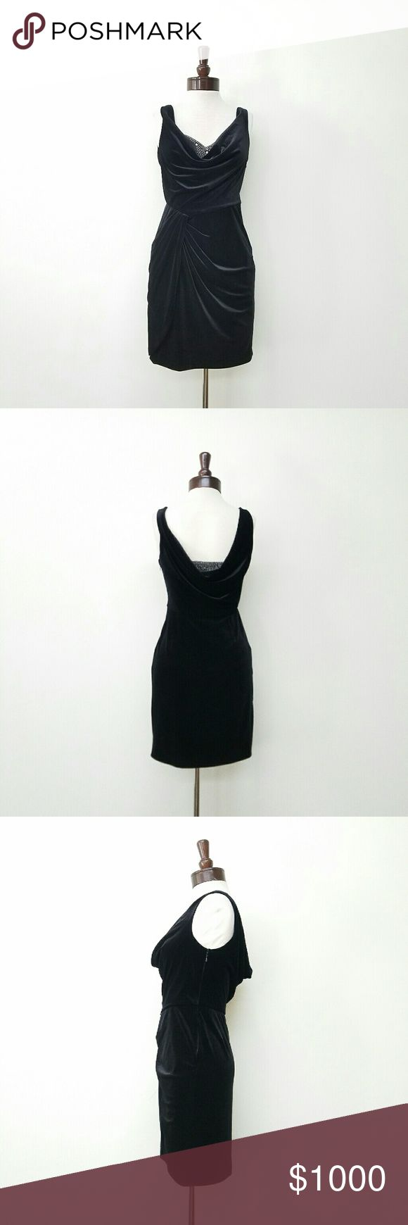 Aidan Mattox Velvet Little Black Dress Beaded Insert. Brand new. Never used. Tags still attached Aidan Mattox Dresses