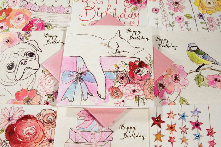 Broderie Greeting Cards