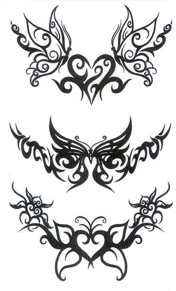 Lower Back Tattoo | Of Temporary Tattoos Butterfly Tribal Back - Free Download Tattoo ...