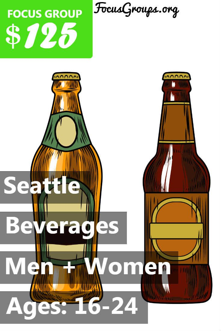 Fieldwork Seattle is looking for people 16-24 to participate in paid focus groups on Beverages! The groups will take place in our downtown Seattle office on Monday, March 26th. The sessions will last 2 hours, and you will receive a minimum $125 Prepaid Visa Card for your time and opinions with the completion of a pre-group assignment. If you are interested in participating, please sign up and take the survey to see if you qualify! If your answers fit with what our client is looking for, we…