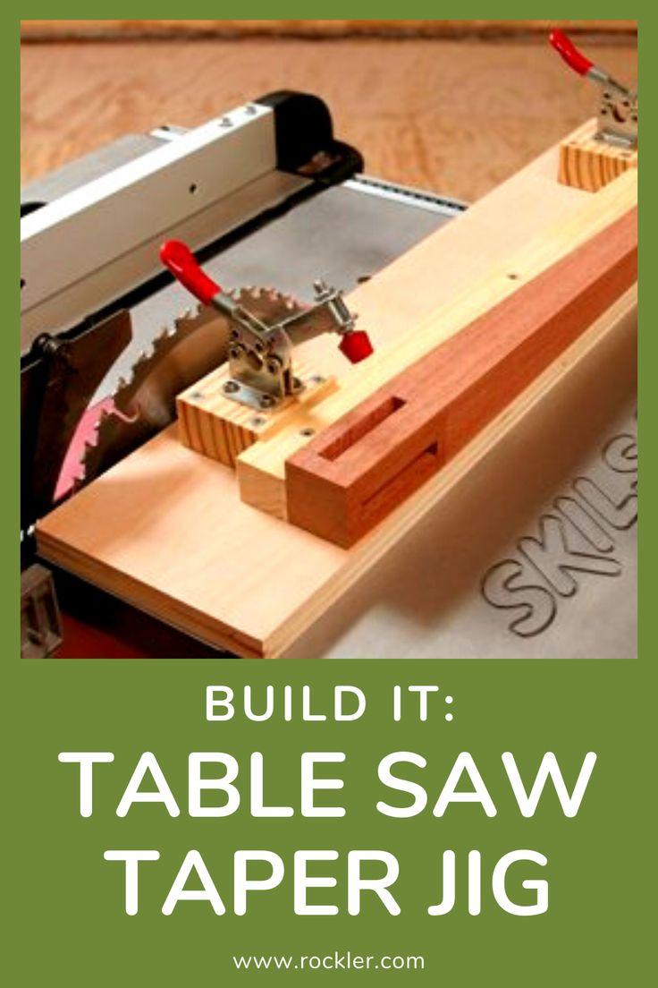 jig woodworking taper saw rockler tapering jigs safe