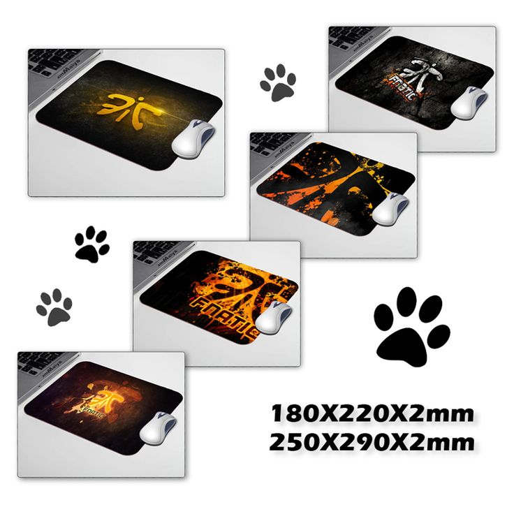 New mat Luxury Fnatic Logo Dark  Wallpaper Mouse Pad 180*220mm or 250*290mm