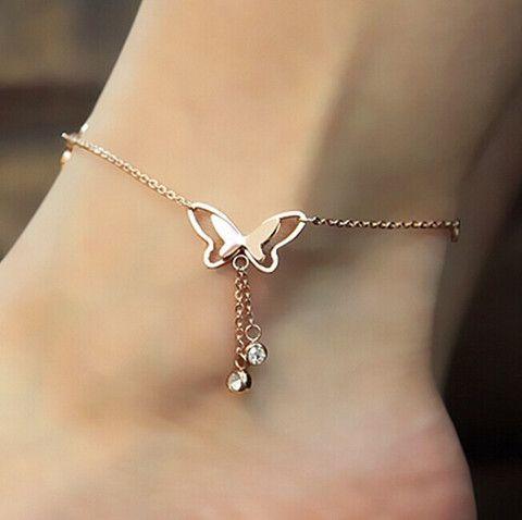 $19.90 | Butterfly Rose gold tassel bracelet