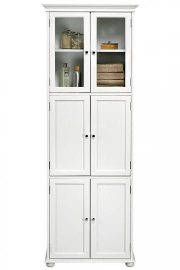 hampton bay 6 door tall cabinet store toiletries and towels in this elegant linen cabinet bathroom