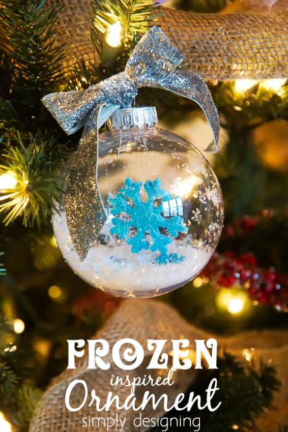 FROZEN Ornament craft idea by Simply Designing