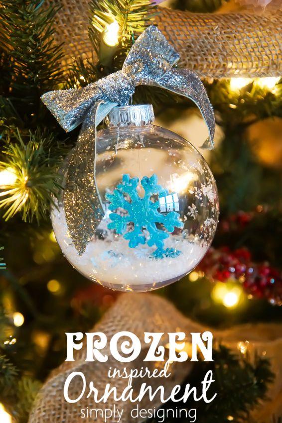 diy frozen ornament frozen christmas treethemed - Frozen Christmas Tree Ornaments