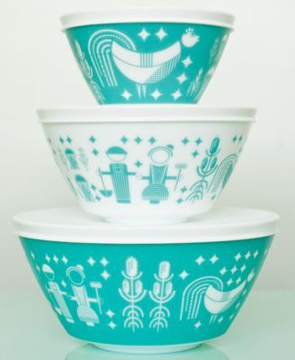Vintage Charm inspired by Pyrex Rise N Shine 6-Pc. Mixing Bowl Set | macys.com