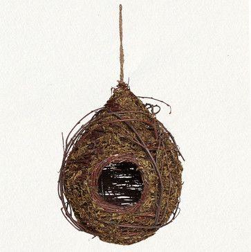 Green Moss Birdhouse - eclectic - birdhouses - Terrain