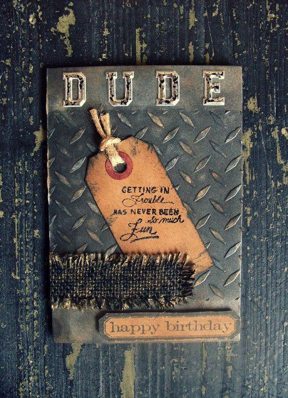 Handmade card Masculine card Birthday card Male by Crafting Emotion