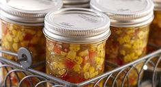 Sweet 'n Spicy Corn Relish: Enjoy the flavor of fresh picked corn all year long by capturing it in this colorful, canned relish.