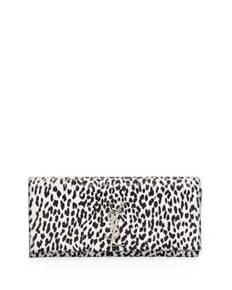 Cassandre Leopard-Print Clutch Bag, Black/White by Saint Laurent at Neiman Marcus. $1020