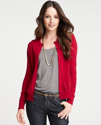I do believe I would enjoy a red cardigan for fall