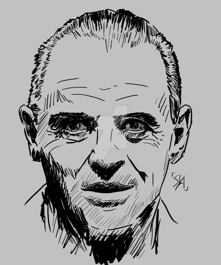 Hannibal Lecter - Anthony Hopkins by CaptainSoja