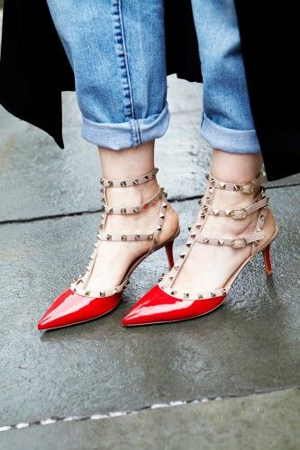I lust for these Valentino shoes. With the black toe, though. Photos by Bek Andersen.