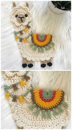 Llama Applique Crochet Patterns Grátis e Pago