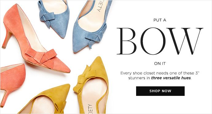 jensine, mustard, chambray, coral, suede, bow, mid heel, pumps, office, spring, pastels, colorful, shoes, heels