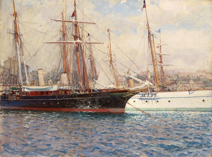 Sailing Ships in a Harbour puzzle in Piece of Art jigsaw puzzles on TheJigsawPuzzles.com. Play full screen, enjoy Puzzle of the Day and thousands more.