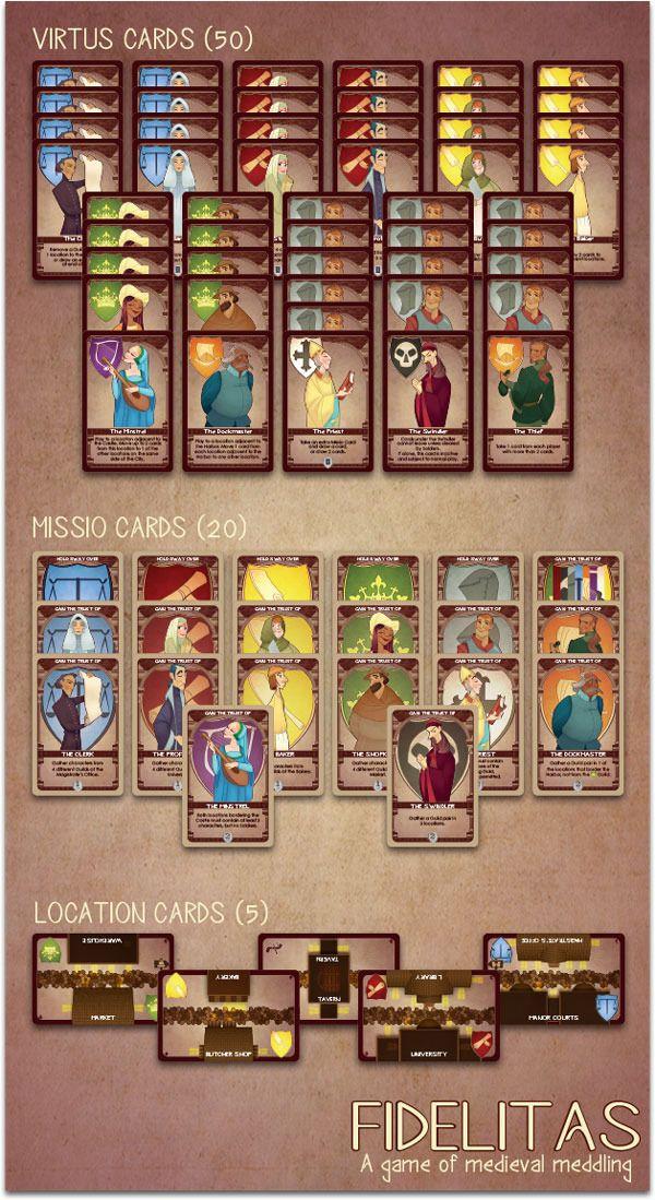 Fidelitas: A card game of medieval meddling for 2-4 players! by Jason Kotarski —…