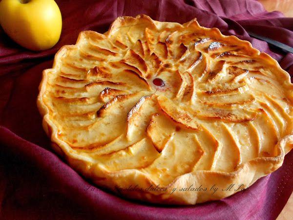 Una delicia multiplicada por 2: tarta de manzana y leche condensada