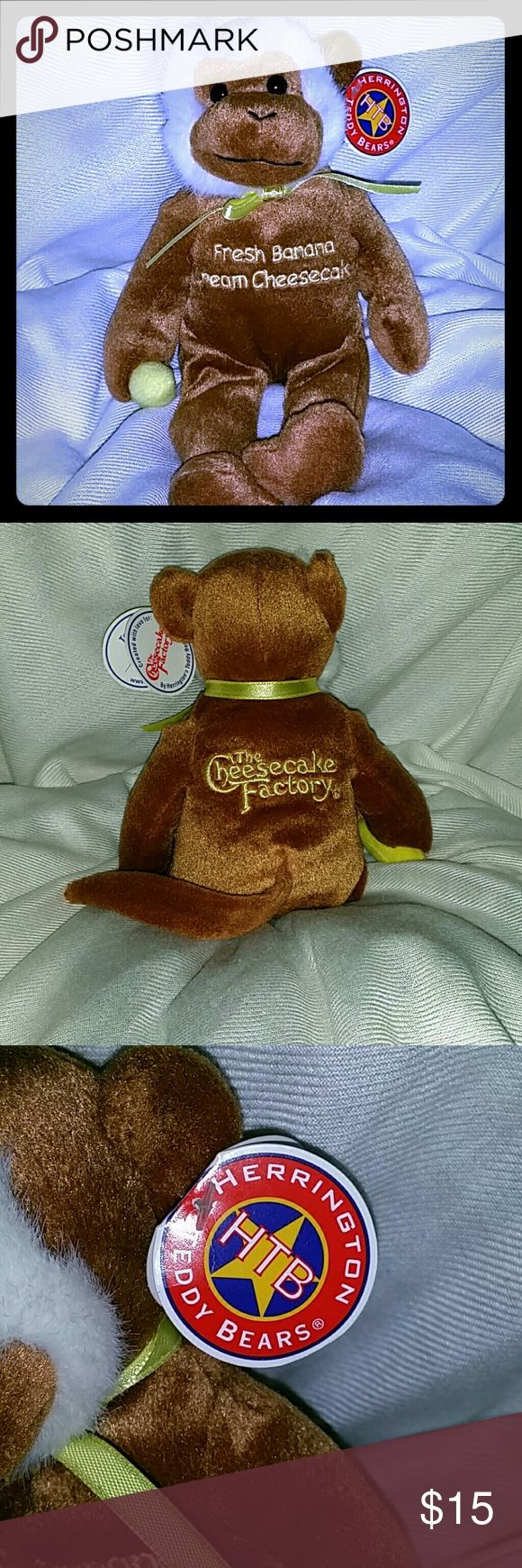 Collector beanie baby Cute Fresh Banana Cream Cheesecake beanie monkey from The Cheesecake Factory. Kept stored. Make me an offer. Paypal + fees only. Thank you for stopping by my closet. herrington Other