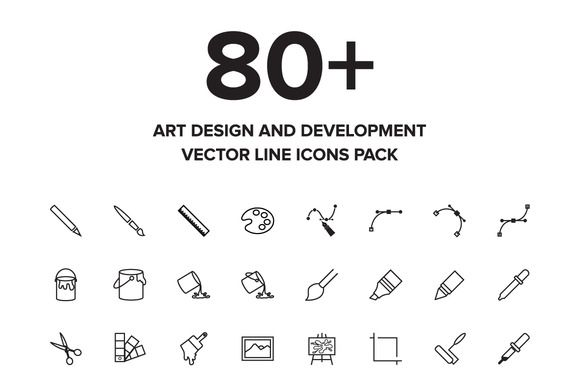 Check out Art Design and Development Icons by Creative Stall on Creative Market