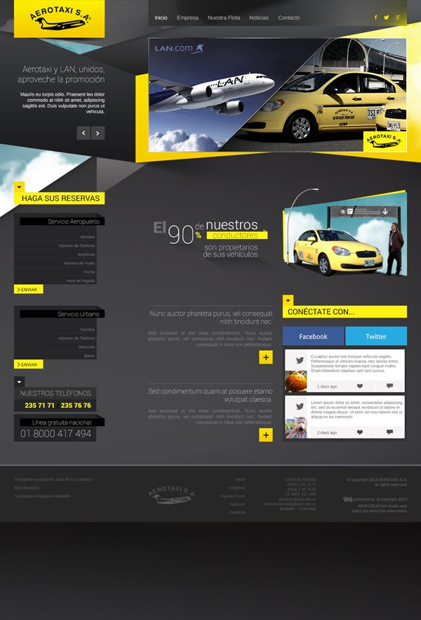 Rediseño Aerotaxi S.A. on Behance