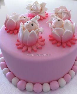 Sweet Pea Babies in a Flower Cake