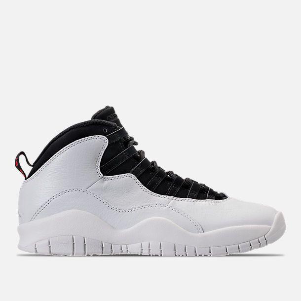 the best attitude 6900f 024e3 Right view of Men s Air Jordan 10 Retro Basketball Shoes in Summit White Black  Retro