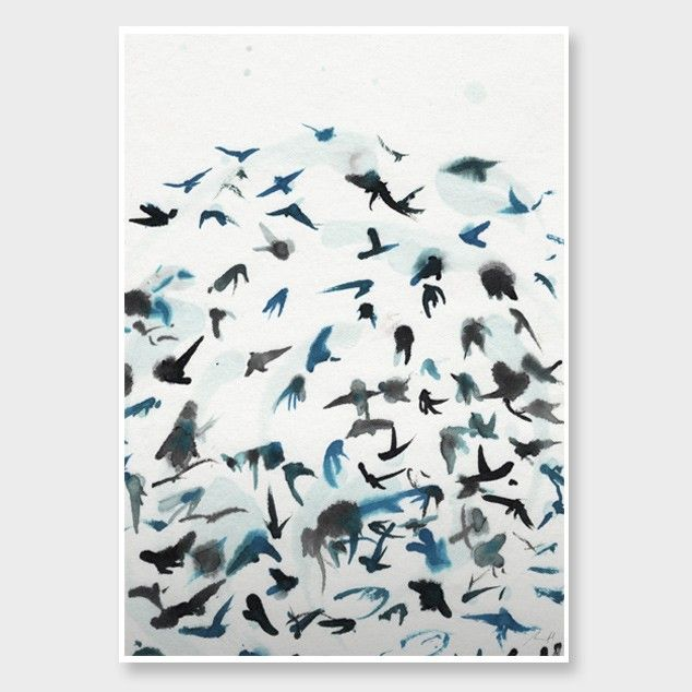 Abstract Swallows Art Print by George Sand Studio