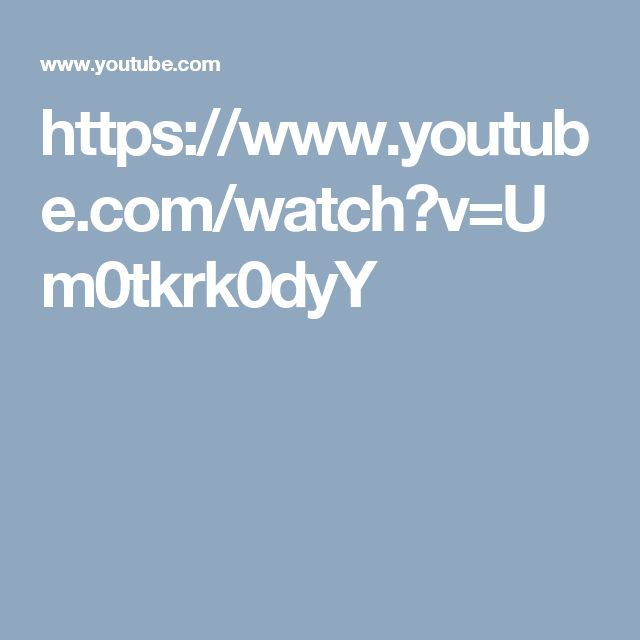 https://www.youtube.com/watch?v=Um0tkrk0dyY