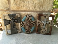 Small picture frame crosses...only $15! #speckledpinkboutique #cross #repurpose…
