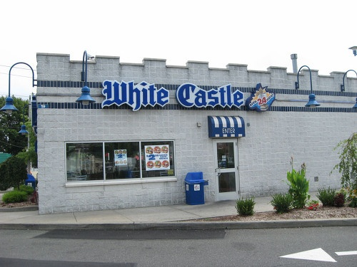 Celebrate a Valentine's Day at White Castle (You have to make reseverations on V-Day; they decorate & serve you your food) It's the simple things...