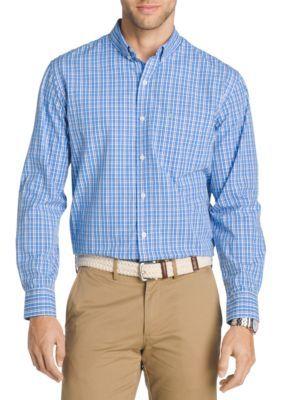 Izod Men's Long Sleeve Plaid Shirt - Blue Revival - 2Xl