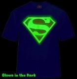 Superman Glow in the Dark Shield Mens T-Shirt (Blue) #40