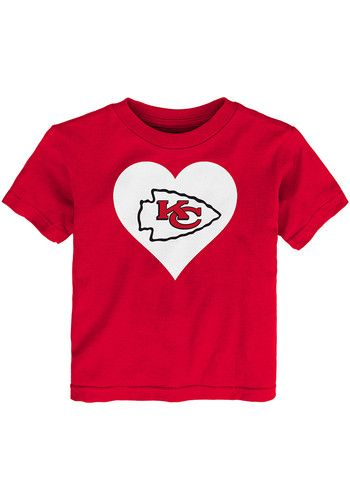 29ec2d84 Kansas City Chiefs Toddler Girls Red Heart Short Sleeve T-Shirt ...