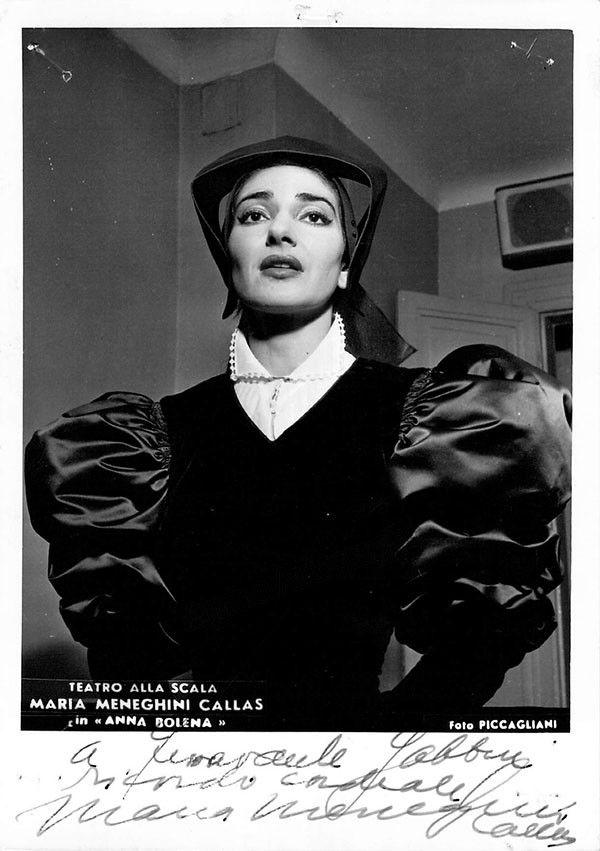 Callas, Maria - Signed Photo as Anna Bolena