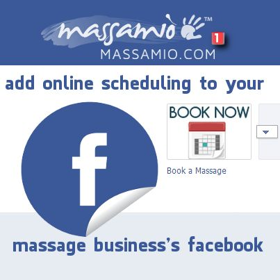 Add online booking to your #massage therapy business page on Facebook so clients can easily #schedule appointments