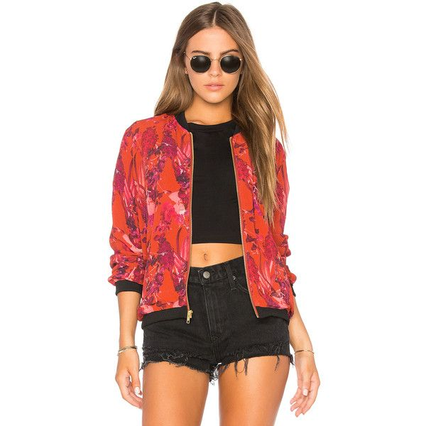 BEACH RIOT Babe Bomber ($140) ❤ liked on Polyvore featuring outerwear, jackets, coats & jackets, zipper jacket, zip jacket, zip bomber jacket, bomber jackets and style bomber jacket