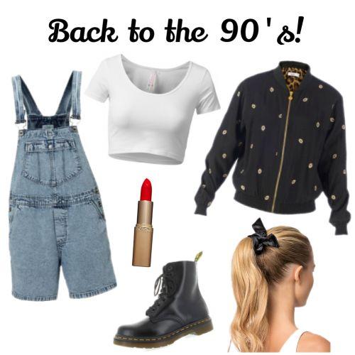 Back to the #nineties! De trends uit de jaren 90 maken een comeback en we like it! #fashion #bomberjack #scrunchies #drmartens #dungarees