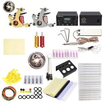 จัดส่งฟรี  WORMHOLE TATTOO Complete Kit 2 Gun Machines Shader Liner with 10Inks Power Supply (EU PLUG) (Silver) - intl  ราคาเพียง  1,762 บาท  เท่านั้น คุณสมบัติ มีดังนี้ Smooth appearance, fine workmanship. The rubber bands can avoid machine vibration. Usage: plug in the power then it can work. The magnetic force back seat is strong. Needle sizes: 7RS, 5RS, 5RL, 3RL. Power supply: 14.5 x 12.5 x 7.5cm. Machine gun: 8 x 9 x 4cm. Tattoo nozzle tips: 5RT, 7RT.