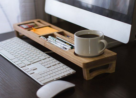 Desk Organizer Ash Wood for your Desktop — very useful thing. After a good half success depends on the order in the workplace and quick access to es…