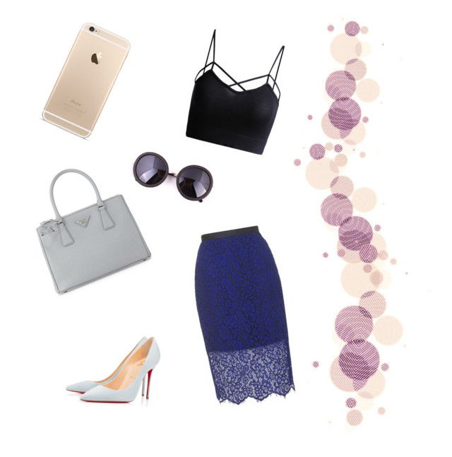 """""""Office lady"""" by weijin on Polyvore featuring Prada, Topshop and Christian Louboutin"""