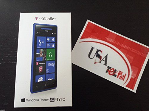 HTC Windows Phone 8X 4G LTE Blue - T-Mobile  https://topcellulardeals.com/product/htc-windows-phone-8x-4g-lte-blue-t-mobile/  4.3″ S-LCD2 capacitive touchscreen, 16M colors 8 MP (3264 x 2448 pixels) camera w/ autofocus, LED flash, Geo-tagging, touch focus and 1080p HD Video Capture 2.1MP secondary front-facing camera w/ 1080p HD Video Capture