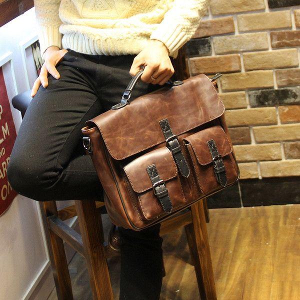 Fashion Style Men's Messenger Bags  Capacious and Zipper Design