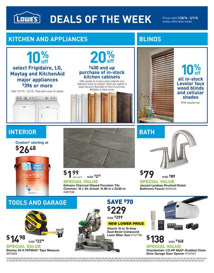 Lowe's Weekly Ad January 28 - February 1, 2016 - http://www.kaitalog.com/lowes-weekly-ad.html